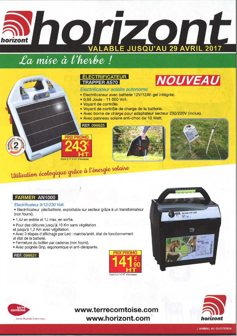 HORIZONT - MISE A L'HERBE
