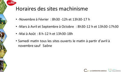 Horaires Machinisme